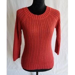 Loft Women's Pullover Sweater Small Brick Red Knit